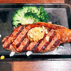 成人式前撮り/いきなりステーキ 昨日の夕飯❣️ いきなりステーキ🥩💕💕 …