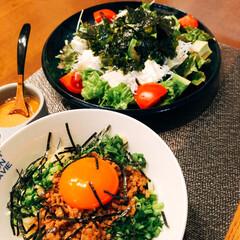 また!お願いします😅/感謝/ありがとう/お皿/nagomiさん作品/おうちごはん/... 今日の夕飯❣️ 久々に混ぜそば😊💕やっぱ…