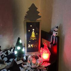 オーナメント/クリスマスディスプレイ/クリスマス雑貨/3COINS/マクラメ❄️/マクラメツリー/... 今年の流木マクラメツリー🎄❣️  3CO…(4枚目)