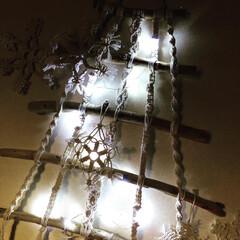 オーナメント/クリスマスディスプレイ/クリスマス雑貨/3COINS/マクラメ❄️/マクラメツリー/... 今年の流木マクラメツリー🎄❣️  3CO…(3枚目)
