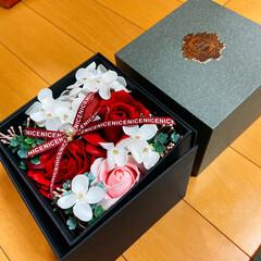 ソープフラワーBOX/リミ友ちゃんに感謝/素敵便 昨日、素敵な🎁が届きました❣️  自粛モ…