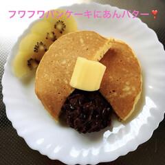 パンケーキ/おうちごはん/スイーツ あんこ🐶ちゃ〜ん❣️  出来たよ〜🥞あん…
