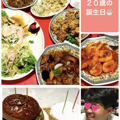 中華料理/誕生日/息子/フード 8月12日 息子の20歳の誕生日でした🎂…
