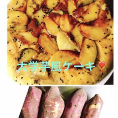 フライパンケーキ/サツマイモ/スイーツ サツマイモ🍠を頂いた(o^^o)🎶  大…(1枚目)