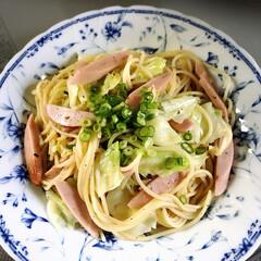 魚肉ソーセージ/キャベツ/パスタ/おうちごはん 皆さんのアップされてるパスタ見て食べたく…