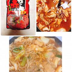 イチビキ 赤から鍋スープ 3番 750g ×5個(たれ)を使ったクチコミ「みんなが食べてた 赤から食べたくて😋 や…」