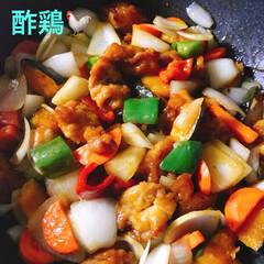 空🐶/豆乳ポーチ/中秋の名月/タルタルソース/エビフライ/酢鶏/... 今夜は酢鶏作った〜😊 みんなの作ってるの…