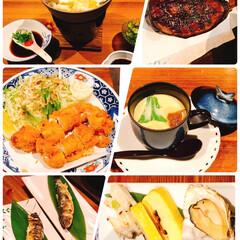 夕食会/もみじの木/穴子/牡蠣/おでかけ 今日は仕事が終わってから、会社の人達と食…