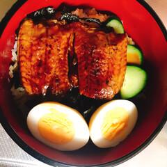 リミ友達に感謝/お土産/鰻丼/夕張メロン🍈/至福のひととき/おやつタイム/... やっと夏祭りも終わり一息つきました😊  …