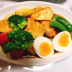 リミ友に感謝/スープカレー/LIMIAごはんクラブ/わたしのごはん/フード 素敵便🎁で届いたスープカレー作ってみたよ…