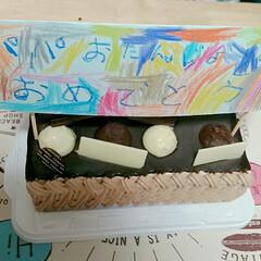 はらぺこグルメ パパの誕生日、子どものメッセージを添えて。
