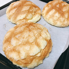 オーブン/冷凍パン/冷凍メロンパン生地/富澤商店/メロンパン/簡単 寝てたらいい匂い🤤🤤   富澤商店の冷凍…