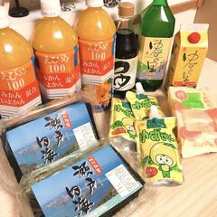 ポンジュース/ゆずロイヤル/ゆずゼリー/みきゃん/愛媛県/鬼北町/... 義実家から大量のお米と 食べ物が届きまし…