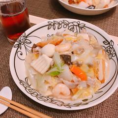 皿うどん 今日は冷蔵庫空っぽなので…  八宝菜の素…(1枚目)