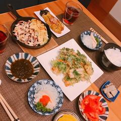 焼き茄子/グリル焼き/三つ葉消費/天ぷら 冷蔵庫整理日😆   ※ちくわと三つ葉の天…(1枚目)