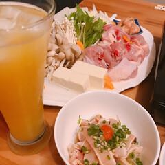 週末は鍋/ぶつ切りもも肉/博多水炊き お鍋❤️   博多の水炊きスープで🤗  …(2枚目)