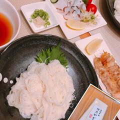 新食感/ゆきやぎ/極細そうめん 今日は素麺🧊  なんと茹で時間18秒🤩 …