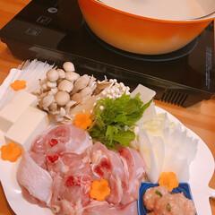 週末は鍋/ぶつ切りもも肉/博多水炊き お鍋❤️   博多の水炊きスープで🤗  …(1枚目)