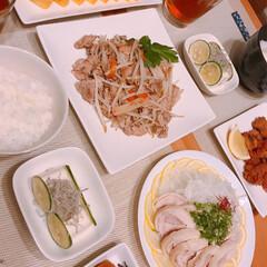 もやし/タコの唐揚げ/鶏ハム/おうちごはん/節約/業務スーパー 今週は毎日出勤🙁 電車で通勤長いし大阪の…