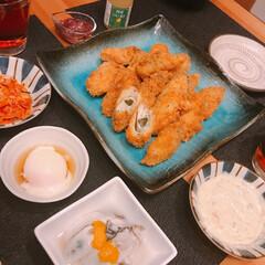 生牡蠣/カキフライ 今日は🙎🏻♂️のリクエストでカキフライ…(1枚目)
