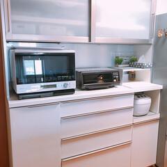 食器棚/パモウナ/収納/キッチン収納/暮らし/カップボード収納/... お皿収納〜🤗   食器棚😊 パモウナのハ…