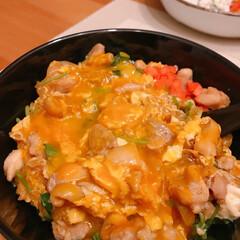 親子丼 今日は親子丼🐓🐥  鶏肉は小さめに切って…(2枚目)