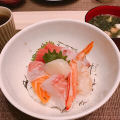 海鮮丼 今日は海鮮丼❤️   (1枚目)