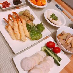 天ぷら/ねぎま/鶏ハム/おうちごはん/節約 ※ちくわの磯辺揚げ  ※海老と大葉の天ぷ…(1枚目)