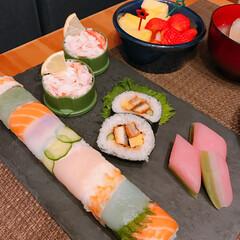 ひなまつり/てまり寿司/レインボーロール寿司 ひなまつり🎎   てまり寿司と レインボ…(2枚目)
