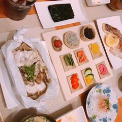 オーブン陶芸/DIY/ごはんのお供/節約 昨日お肉食べたので今日はあっさりお魚の日…