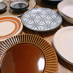 食器棚いっぱい/収納どうする…/陶器市/食器 新しい食器😊✨  先週は道具屋筋でお盆と…(5枚目)