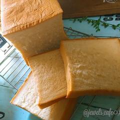 朝ごぱん/手作りパン/おうちパン/2斤角食/生食パン/ホームメイド/... 乃が美パンを目指して🤩(2枚目)