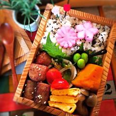 和食弁当/ᴊᴋ弁当/女子弁/もくもくハウス/お弁当/春のフォト投稿キャンペーン/... 久々のおべんと投稿🙈 (2枚目)
