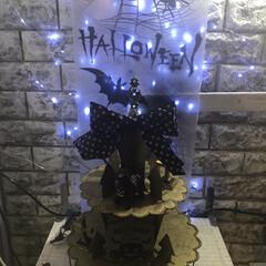 ハロウィン/100均deハロウィン ダイソーのケーキスタンドをペイントして、…