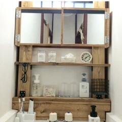 洗面所DIY/古い借家一軒家/ディアウォール/鏡がない/収納がない 1.改善したかった点 ⚫︎流し台はついて…
