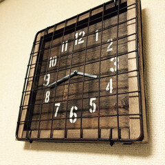 時計リメイク/100均/ワイヤーネット/男前/サビ加工 我が家の時計は全て100均時計をリメイク…