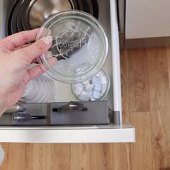 柳宗理/WECK/キッチン収納/キッチン/キッチン雑貨/住まい/... キッチン収納のこと 食洗機の横になる収納…(1枚目)