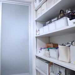 洗面所収納/収納/住まい/リフォーム/無印良品/暮らし 洗面所。 壁一面に収納を造り付け。 可動…