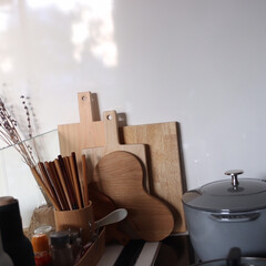 ストウブ/ズボラ主婦/ズボラ/ラク家事/楽家事/キッチン/... キッチンIH横の、カッティングボードやお…
