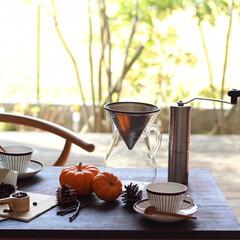 コーヒーを愉しむ/北欧の器/北欧インテリア/北欧ビンテージ/北欧雑貨/秋/... ハロウィンを意識してのスタイリングフォト…
