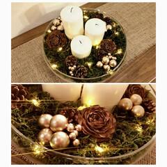 ヒマラヤスギ/グリーンモス/キャンドル/ライトアップ クリスマスデコ☆