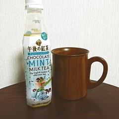 コンビニ/KIRIN/ティータイム/おやつ/カフェ 午後の紅茶  期間限定 チョコミントミル…(1枚目)