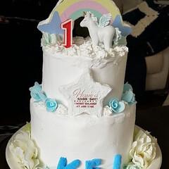 誕生日ケーキ/バースデーケーキ/クレイケーキ/あけおめ/フォロー大歓迎/スイーツ/... 孫の1歳の誕生日が4日なので、インスタ映…