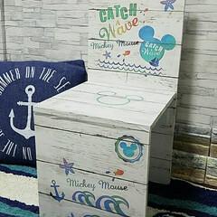 椅子・チェア/キッズ/ディズニー/ミッキーマウス/キッチン汚れ防止シート/リメイクシート/...