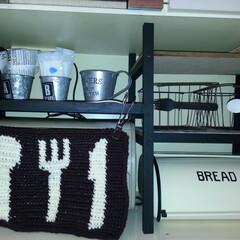 木製フォーク/木製スプーン 食器棚に男前な棚を作って オーブントース…