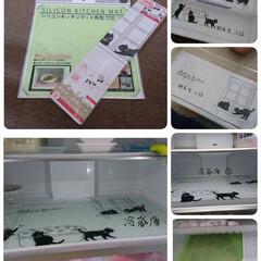 冷蔵庫リメイク/冷蔵庫整理/雑貨/100均/セリア 新しい冷蔵庫買って汚れ防止の為にやってみ…