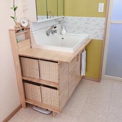 DIY/セルフリフォーム/リノベーション 洗面台を約1万でセルフリフォームしました…(1枚目)