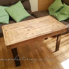 DIY/古民家風カフェ/テーブル/スクラップ材/ヴィンテージワックス/リメイク 古民家風カフェのようなテーブルをDIYし…(1枚目)