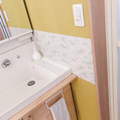 DIY/セルフリフォーム/リノベーション 洗面台を約1万でセルフリフォームしました…(4枚目)