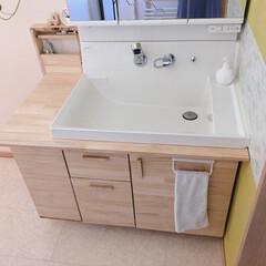 DIY/セルフリフォーム/リノベーション 洗面台を約1万でセルフリフォームしました…(2枚目)